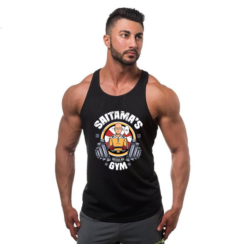2018 New Bodybuilding Tank Top Men Gyms Stringer Fitness Gyms Shirt Brand Clothing Muscle Workout Cotton Men Tank Tops