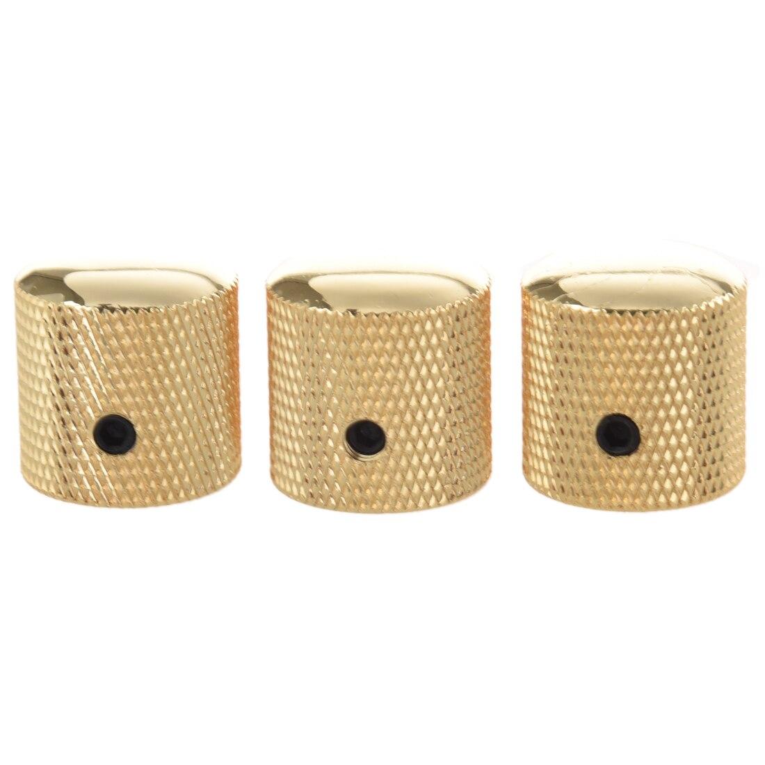 все цены на 12pcs (3PCS Gilded Metal Dome Knobs Knurled Barrel for Electric Guitar Parts Gold
