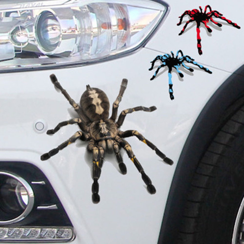 Creative Car Sticker Motorcycle Decoration Cool Spider Automobiles Accessories Scratch Stickers and Decals Car Styling New 2016 mp048 cool 3d flame style diy decoration stickers for car motorcycle blue 2 pcs