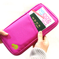 New Arrival Men Women Fashion Travel Card Holder Wallet Canvas Passport Wallet Purse