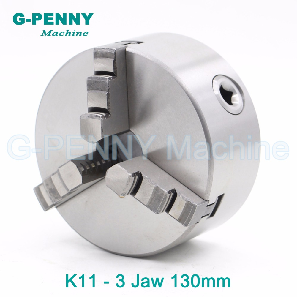 CNC 4th axis A axis 130mm 3 jaw Chuck self-centering manual chuck K11 fourth jaw for CNC Engraving Milling machine Lathe Machine fifthe 5th axis cnc dividing head a axis rotation fifth axis with chuck 3 jaw chuck cnc engraving machine