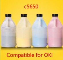 Free Shipping Compatible for OKI c5650 / 5650 Chemical Color Toner Powder Refill toner cartridge  printer color powder 4KG