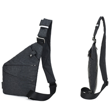 Fashion Canvas Chest Bag Men Simple Single Shoulder Bags for Men Crossbody Bags Anti Theft Male Messenger Bag Black Phone Blosas