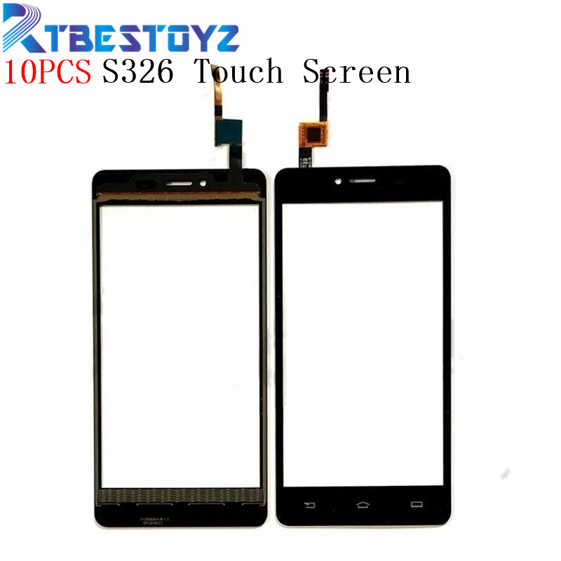 RTBESTOYZ 10PCS Mobile Phone Front Glass Touch <font><b>Screen</b></font> Digitizer For <font><b>Philips</b></font> <font><b>S326</b></font> Touchscreen Touchpad Touch Panel Lens Sensor image
