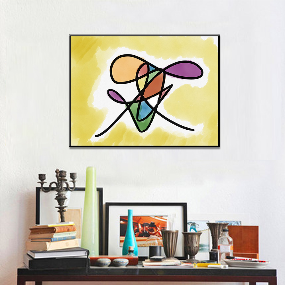 Unframed Canvas Art Colored Abstract Line Pattern Print Painting Posters Wall Picture For Living Room Home Decor Dropshipping