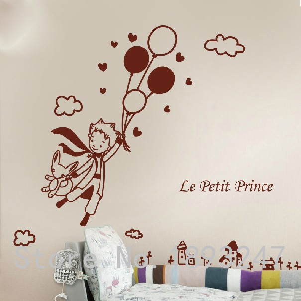 Cute Creative Big Size Little Prince And The Fox For Kids Rooms
