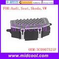 New Blower Motor Resistor Regulator use OE NO. 3C0907521F for Audi Seat Skoda VW