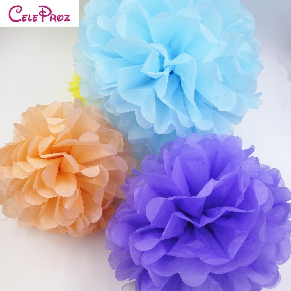 10pcs 50cm20inch Big Tissue Paper Pom Poms Paper Flower Ball For