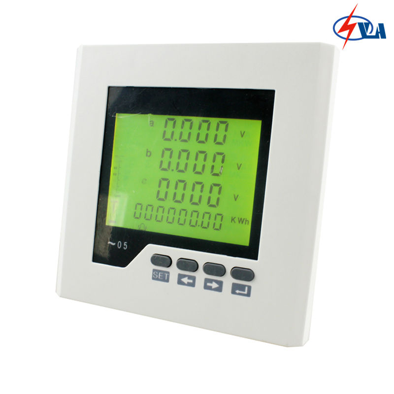 3D2Y three-phase r panel size 120*120 mm ammeter voltmeter multifunction mete LCD digital only d2y panel size 120 120 low price and high quality lcd single phase digital multifunction meter for distribution box