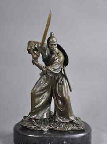 art deco sculpture japanese samurai bronze statue decoration bronze