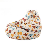 Cartoon Animal Kids Bean Bag Pouf Bean Bag Chair With EPP Foam Filler Living Room Bedroom Tatami Couch Home Lazy Sofa Bed
