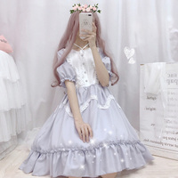 Japanese Spring Summer Mori Girl Sweet Dress Women Lace Ruffled Female Kawaii Lolita Elegant Kawaii Korea Cosplay Dress K114