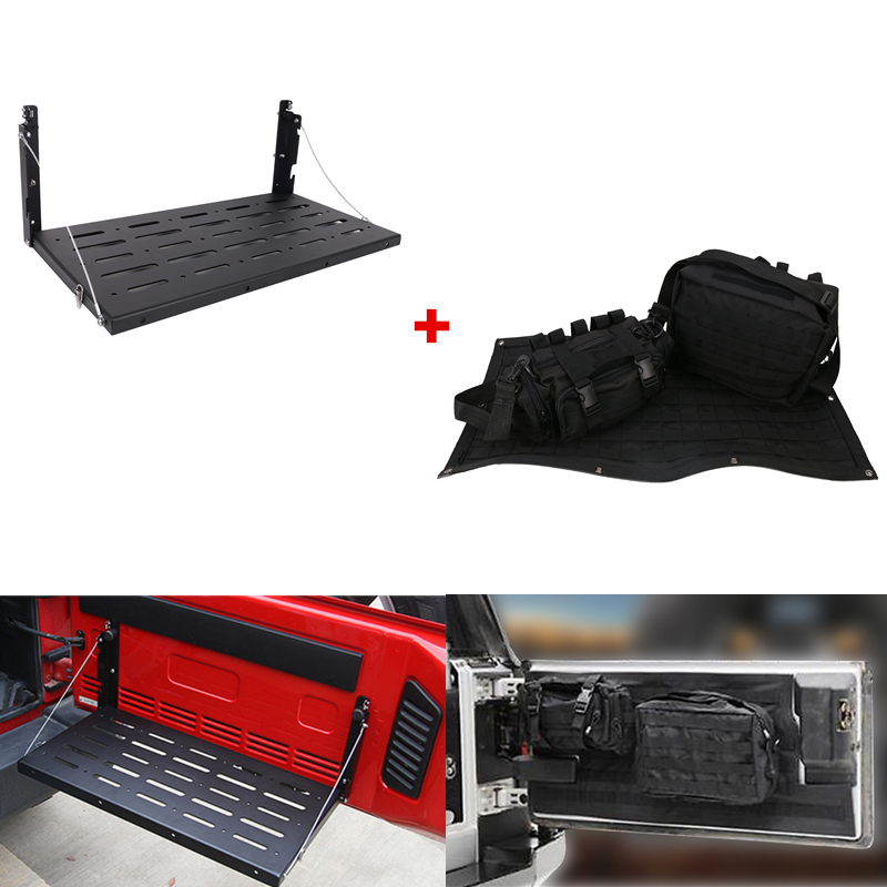 Étagère de rangement pour porte arrière et hayon sac de rangement multi-poches pour Jeep