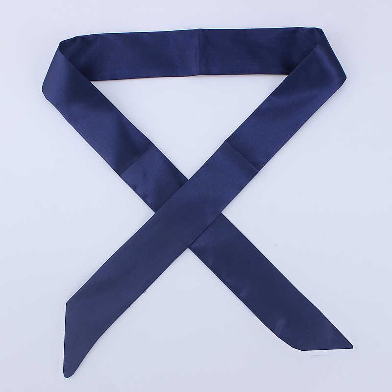 30 Sacchetto Solido di Modo Delle Donne di colore Foulard Sciarpa Skinny Piccola Testa A Nastro Dei Capelli Maniglia Sciarpa di Marca di Lusso Decorazione Cravatta