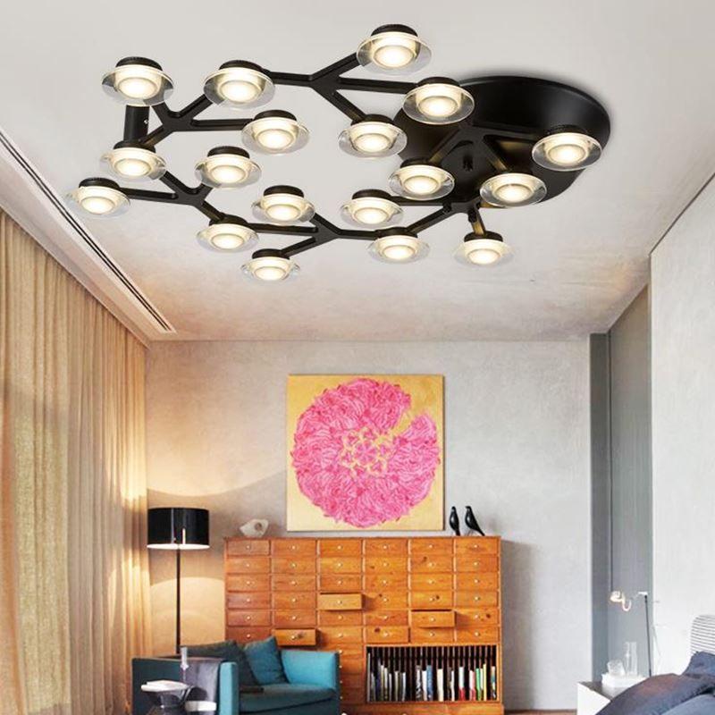 Modern led luzes de teto luminárias para sala de estar quarto lâmpada com material é de Alumínio lâmpada do teto de acrílico
