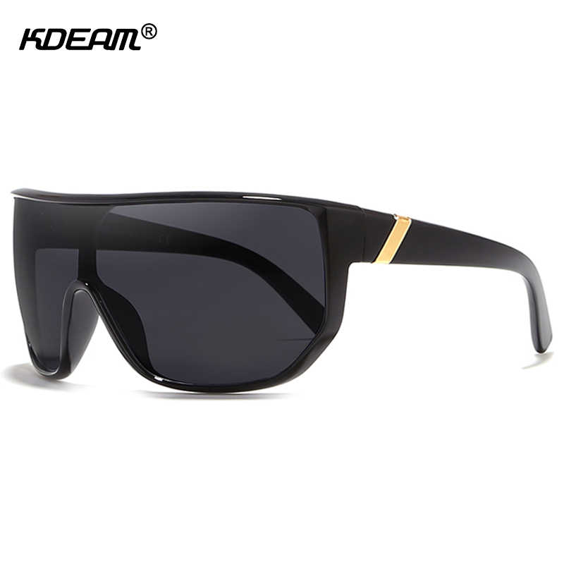 614bc22d56f KDEAM Mens Goggle Big size Sport Sunglasses Flat top Frame Women Sun Glasses  Windproof Glasses UV400