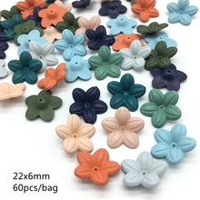 Meideheng Acrylic lacquer deep color Dull Polish flowers Beads Fit Jewelry Handmade Tiaras DIY Craft Accessories 22mm 60PCS/bag