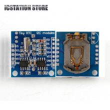 2PCS AT24C32 Real Time Clock RTC I2C DS1307 Module for Arduino UNO AVR ARM PIC 51 ARM 24C32