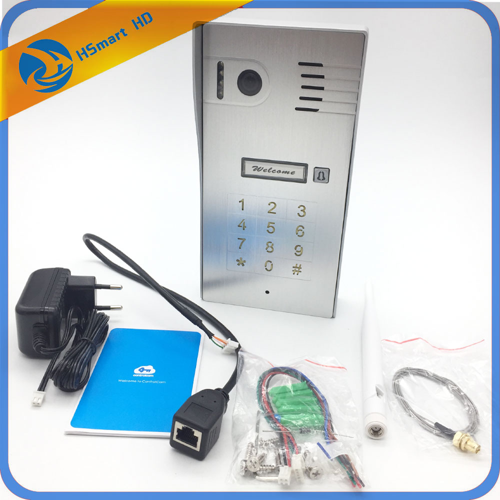 4G Wireless Wifi Video Door Phone Doorbell IP Camera Intercom Support IOS Android For Smart Phone Tablet