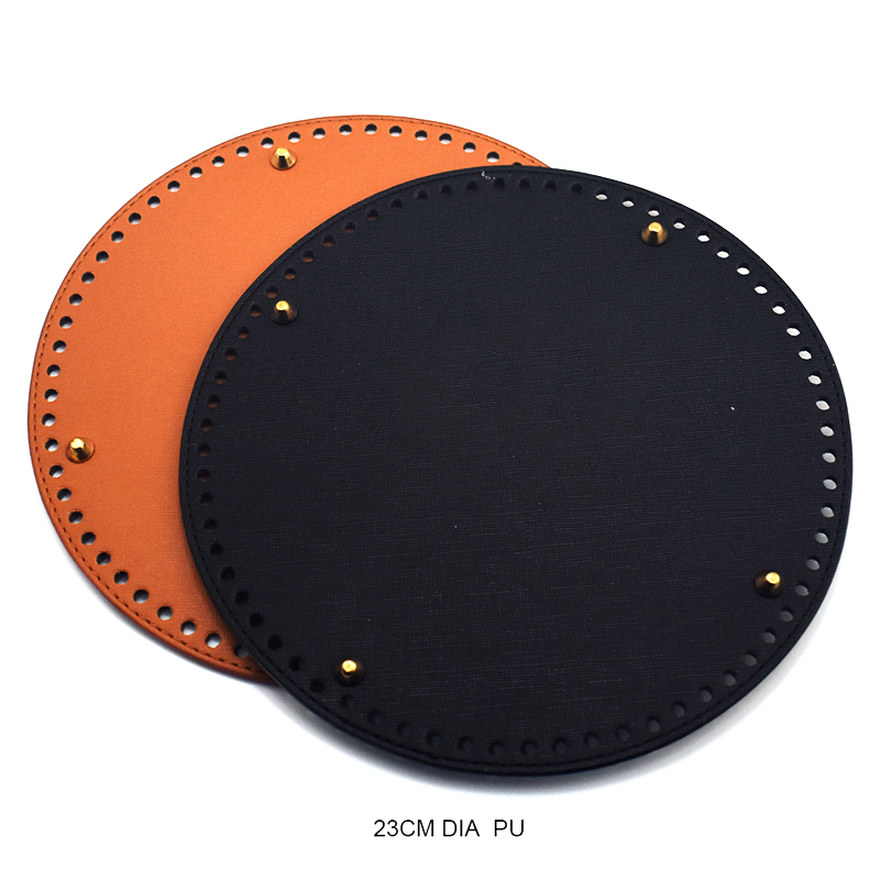 23*23cm Bag Bottoms Leather Bag Round Bottom Women DIY Retro Brown Replacement For Bucket Bags Handbag Bag Accessories KZBT026