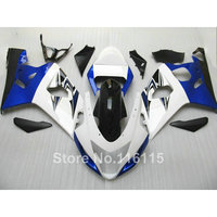 Пластик обтекателя комплект для SUZUKI GSXR 600 GSX R 750 K4 K5 2004 2005 синий белый черный обтекатели кузова GSXR600 04 05 TY80