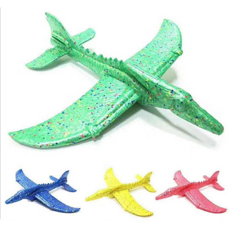 Mão lançamento jogando planador aeronaves espuma inercial epp avião dinossauro trem dragão plano modelo brinquedos educativos ao ar livre 48cm