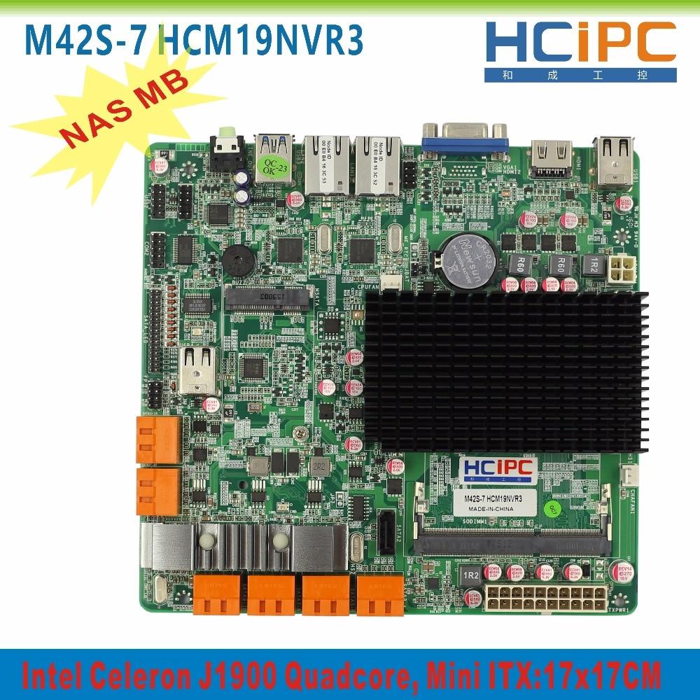 HCIPC M42S-6 HCM18NVR3,13SATA Ports,2 Giga LAN,1* COM,8*USB2.0, VGA+HDMI,ATX,Mini ITX motherboard, ITX Mainboard small bottle filling machine