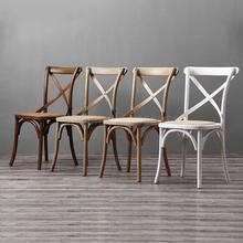 В американском стиле из цельной древесины стул домашний задний Ретро обеденный стул простое сиденье отель стул для ресторана отеля 2 от продажи