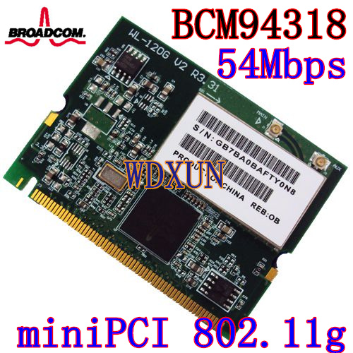 BROADCOM BCM4318 MINI PCI DRIVERS FOR WINDOWS XP