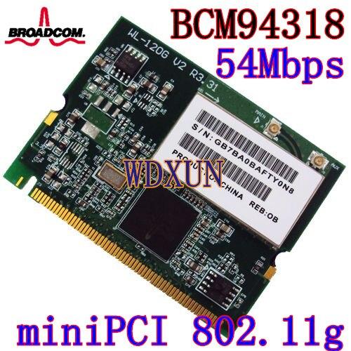 Broadcom bcm4318 Беспроводной WLAN сетевой адаптер WiFi Mini PCI карты abg 54 Mbps Ethernet модуль