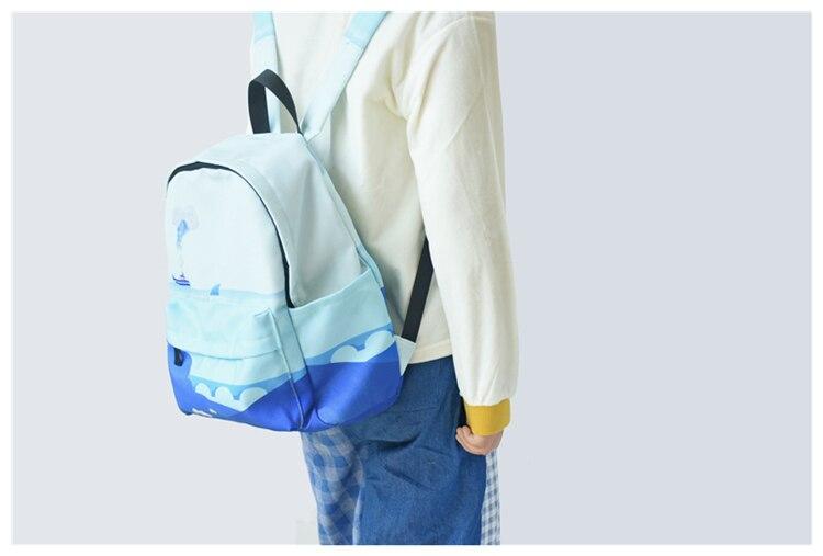 HTB1yP0aVSzqK1RjSZFLq6An2XXak Moon Wood Original Design Black Blue Print Sea Moon Backpack Women Casual Canvas Backpack School Bags For Teenager Girls Sac
