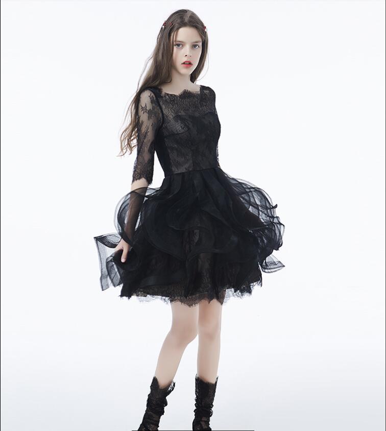 Heißes Promo Sexy 2019 Schwarz Gothic Homecoming Kleider ...
