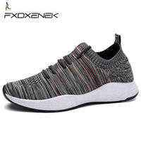 FXDXENEK Brand Sports Man Sneakers Breathable Flyknit Mens Running Shoes Damping Athletic Trainers Good Quality Jogging