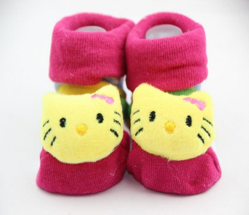 1 par de calcetines de algodón para bebé goma antideslizante niño niña suelo niños otoño primavera Animal bebé recién nacido lindo regalo barato