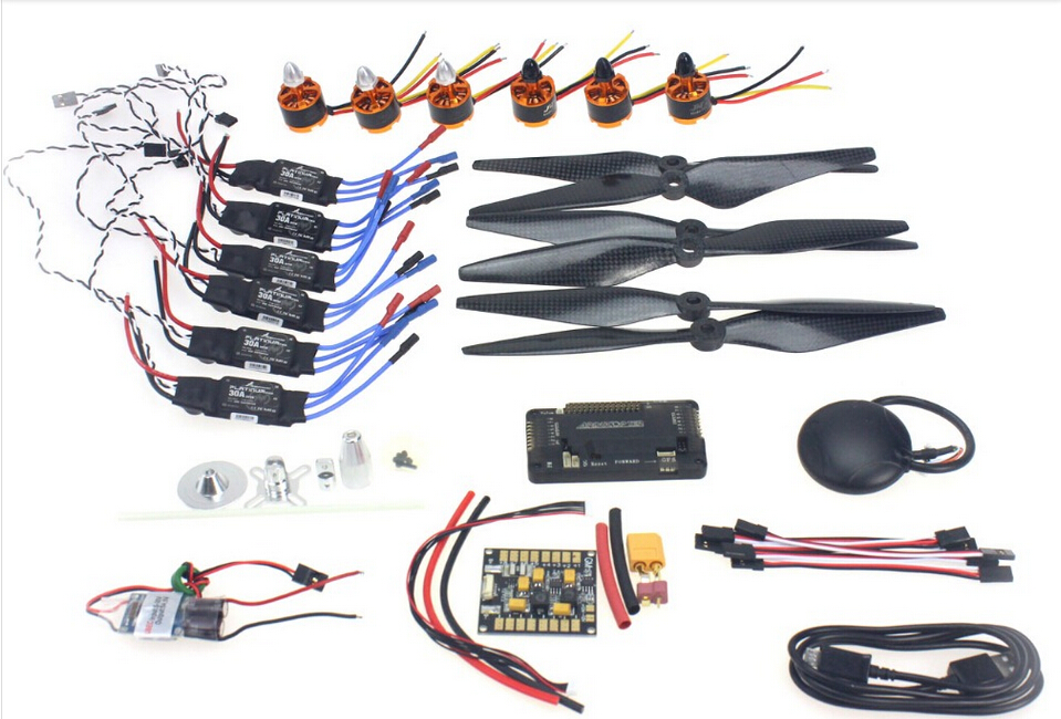 F15843 G Necessity kits : Motor + ESC+ Props + APM2.8 + GPS for 550 6 Aix RC Drone Quadcopter Hexacopter Multi Rotor Aircraft