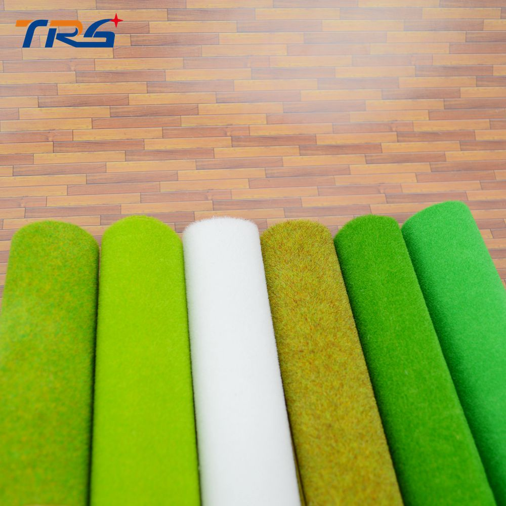Teraysun HO O N scale 0.5x2.5m grass mat scale 2pcs/lot model green carpet for architectural model making scenery train layout