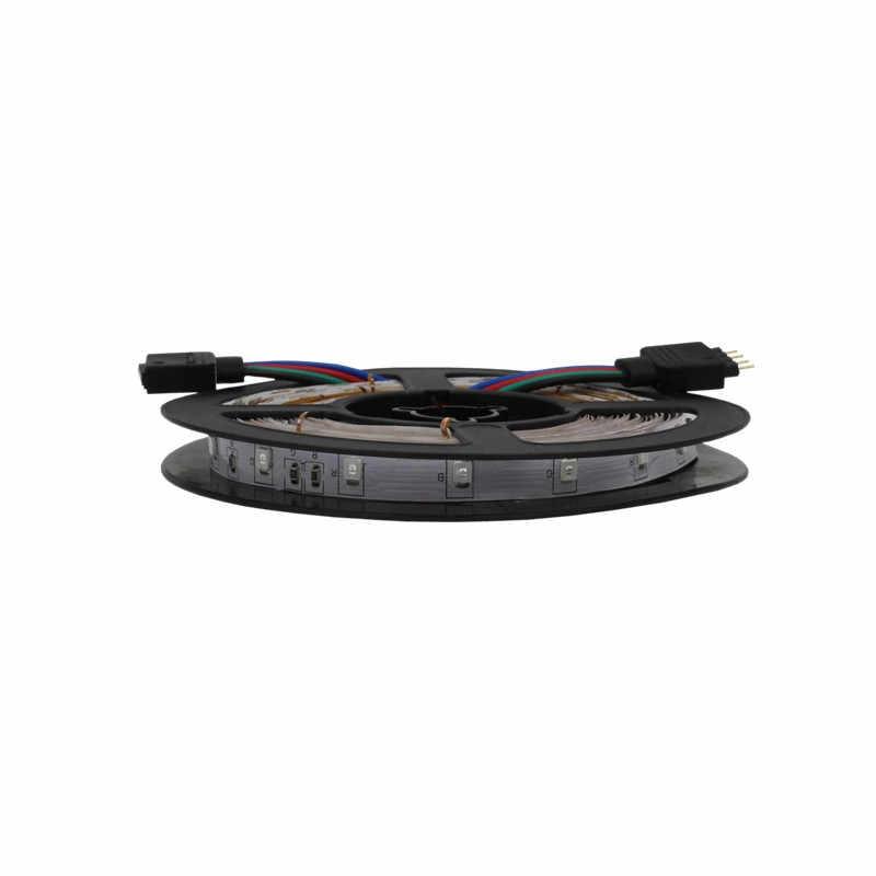 50 CM 1 M 2 M 3 M 5 M LED Strip Fleksibel Dekoratif 12 V Rgb Merah Biru Hijau tali Lampu Neon Strip
