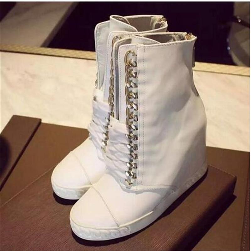 Picture Cheville Loisirs 2017 Bottes Talons Croissante Hauteur Mode Chaussures Courtes as Up As Lace Femmes Picture Automne qqn476A