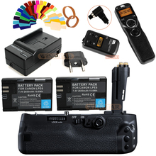 Pixle Vertax E20 Vertical Battery Grip + Wireless Timer Remote Controls + 2x LP-E6 Battery+Charger For Canon 5D Mark IV Camera