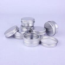 10pcs 10ml Mini Metal Tin Containers Aluminum Cream Jar Pot Nail Art Makeup Lip Gloss Cosmetic Tin Box Refillable Containers