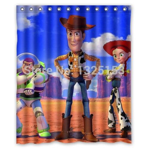 Personnalisé Toy Story Woody imprimé Polyester rideau de douche ...