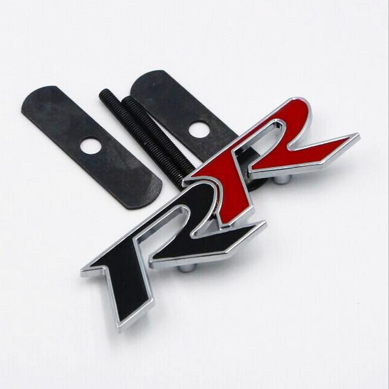 Automobile Accessories Car-Styling Car Sticker 3D Black Red RR Logo Grill Emblem Front Head Grille Badge Creative frp fiber glass nobless style front grill fiberglass racing grille grills accessories fit for honda odyssey rc1 car styling