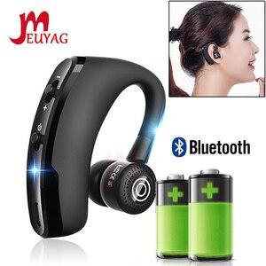 Image 1 - MEUYAG auriculares inalámbricos con Bluetooth para coche, audífonos manos libres con micrófono y gancho para la oreja para iPhone y Samsung, 2019