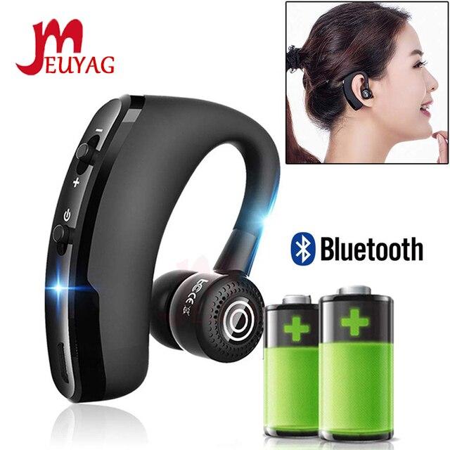 MEUYAG auriculares inalámbricos con Bluetooth para coche, audífonos manos libres con micrófono y gancho para la oreja para iPhone y Samsung, 2019