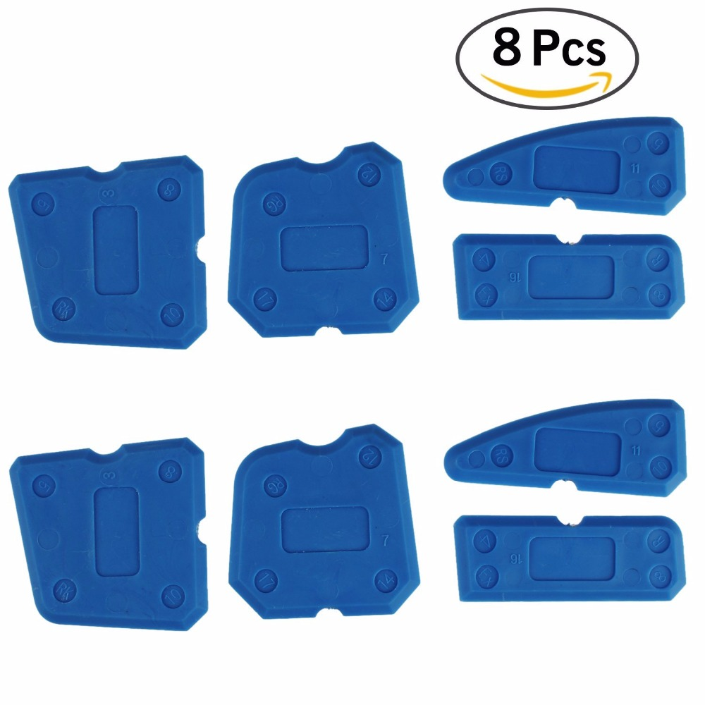 8 Pcs Sealing Tool Scraper Kit Joint Sealant Silicone Caulk Remover Sealant Finishing Tool Sealant Finisher Caulking Tool Kit