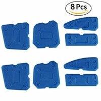 8 Pcs Sealing Tool Scraper Kit Joint Sealant Silicone Caulk Remover Sealant Finishing Tool Sealant Finisher Caulking Tool Kit|silicone caulk|silicon sealant toolkit kits -