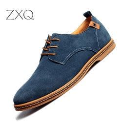 2019 أزياء الرجال حذاء كاجوال جديد الربيع الرجال الشقق الدانتيل يصل الذكور الجلد المدبوغ أوكسفورد الرجال أحذية من الجلد zapatillas hombre حجم 38- 48