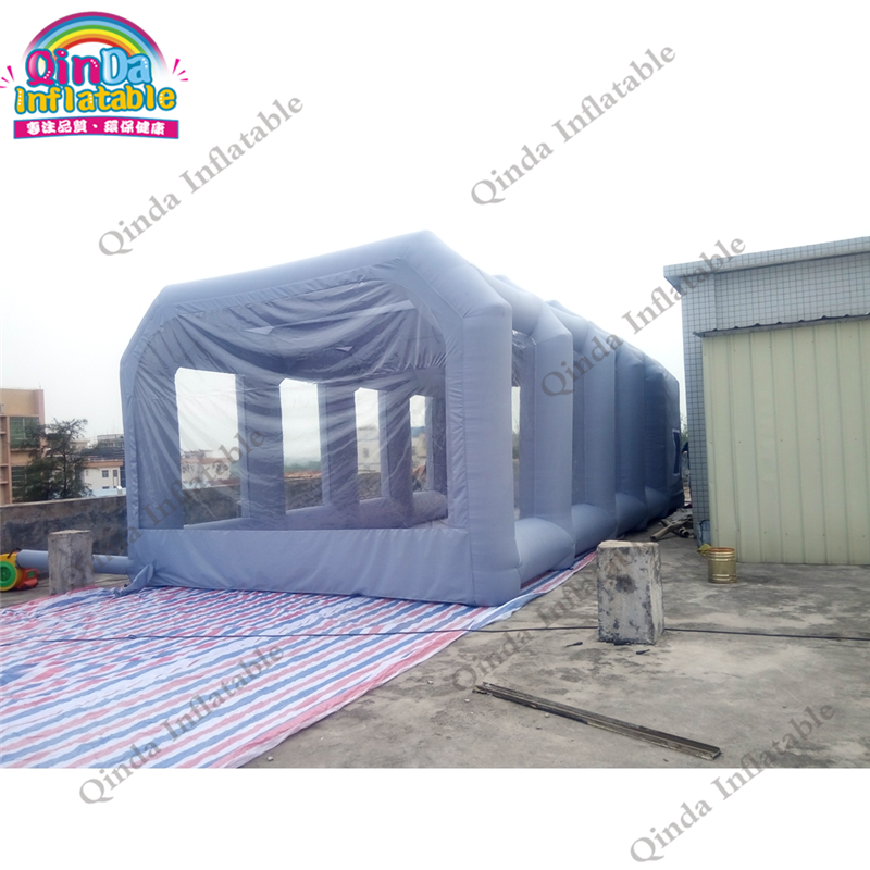 все цены на Free Shipping Inflatable Spray Booth Car Paint Booths Inflatable Spray Booth Car Tent For Painting With Filter 8*4*3m онлайн