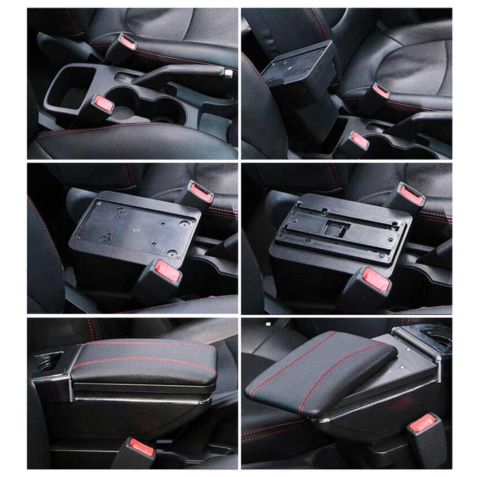 Araba saklama kutusu kol dayama Hyundai Solaris için 2/Accent/Verna 2017 2018 merkezi merkezi konsol kol dayanağı dönebilen