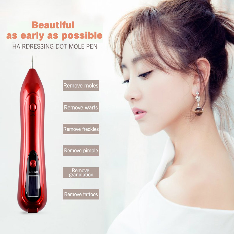 8 stalls Skin Care Laser Mole Freckle Removal Pen Tool Spot Remover Freckle Tattoo Removal Machine Mole Spot Pen Beauty Device laser freckle removal machine skin mole removal dark spot remover for face wart tag tattoo removal pen salon home beauty care